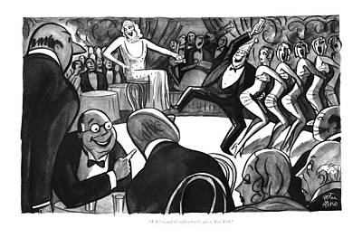 Drunken Drawing - J. G.'s A Card All Right When He Gets To New York by Peter Arno