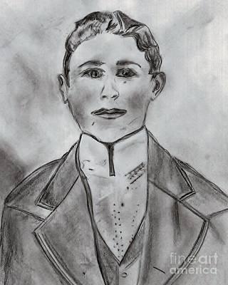 Strong America Drawing - John Henry by Elizabeth Briggs