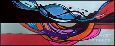 Marlene Burns Fine Art Painting - j HOT 10 by Marlene Burns