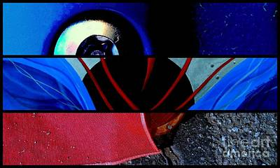 Rivets Painting - j HOT 22 by Marlene Burns