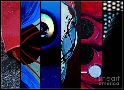 Rivets Painting - j HOT 27 by Marlene Burns