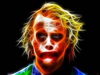 Heath Ledger Digital Art - J Oker Portrait by Daniel Janda