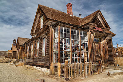 Photograph - J. S. Cain Home In Bodie Ghost Town by Kathleen Bishop