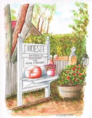J Woeste Treasures For Home In Los Olivos - California Original by Carlos G Groppa