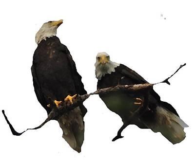 Shower Head Digital Art - J6942 Broken Winged Bird Collection by Jill Walton
