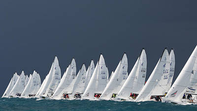Photograph - J70 Start Line Key West by Steven Lapkin