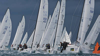 Photograph - J70 Weather Mark Rounding  by Steven Lapkin