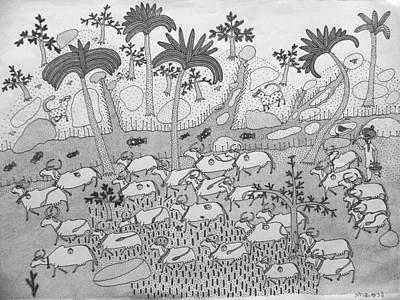 Gond Artist Painting - Ja-gn 03 by Ganesh Jogi