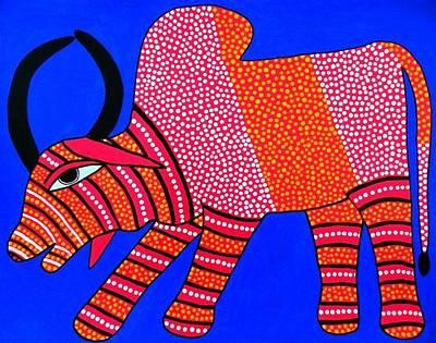 Indian Tribal Art Painting - Ja Soni 02 by Soni Jogi