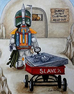 Boba Fett Painting - Jabba's Gift by Al  Molina