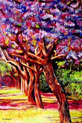 Jacaranda Lane Art Print by Michael Durst