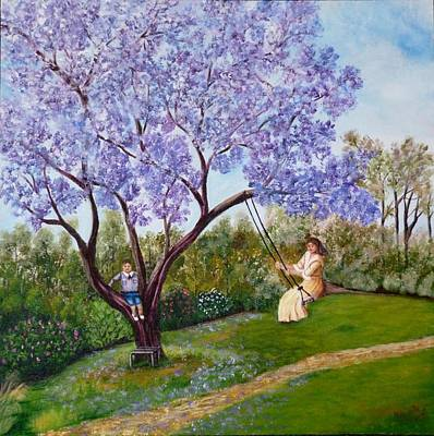 Painting - Jacaranda Time by Renate Voigt