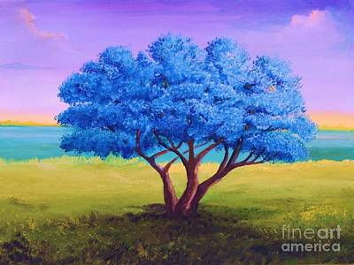 Puerto Rico Painting - Flamboyan Tree, 9x12x1.5 In. The Original Is Sold by Alicia Maury