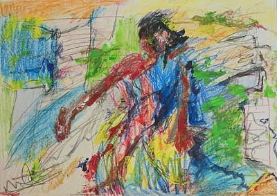 Abstract Expressionism Drawing - J'accuse by Esther Newman-Cohen