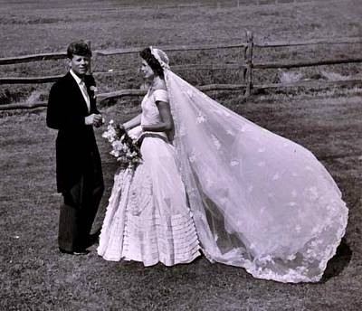 Digital Art - Jack And Jackie Kennedy Wedding by Toni Frissell