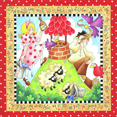 Nursery Rhyme Painting - Jack And Jill by P.s. Art Studios
