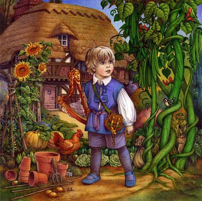 Jack And The Beanstalk By Carol Lawson Art Print by Carol Lawson