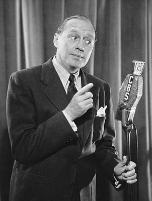 Personalities Photograph - Jack Benny On Cbs by Underwood Archives