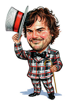 Humor. Painting - Jack Black by Art