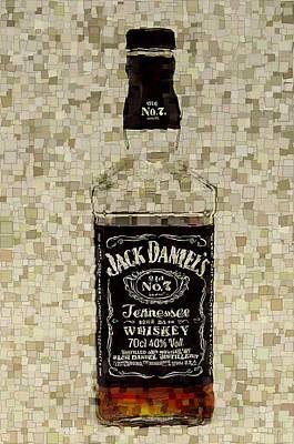 Stock Mixed Media - Jack Daniel's Cubism by Dan Sproul
