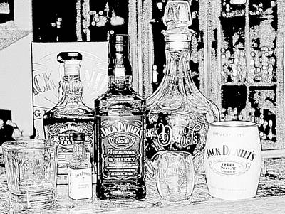 Photograph - Jack Daniels In Black And White by Living Color Photography Lorraine Lynch