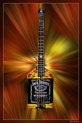 Jack Daniels Whiskey Guitar Art Print