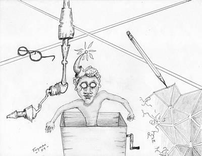 Drawing - Jack Dans La Boite by Dan Twyman