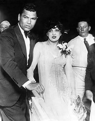 Jack Dempsey & Estelle Taylor Art Print by Underwood Archives