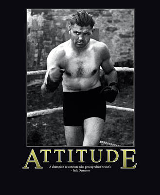 Punch Photograph - Jack Dempsey Attitude by Retro Images Archive