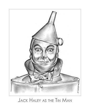 Tin Drawing - Jack Haley As The Tin Man by Greg Joens
