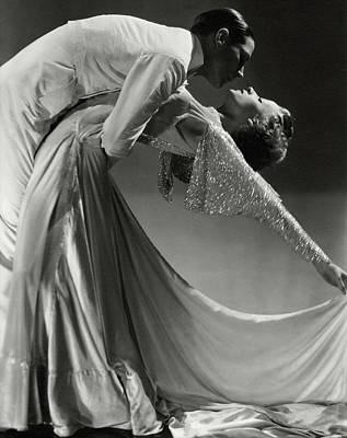 Holland Wall Art - Photograph - Jack Holland And June Hart Dancing by Horst P. Horst