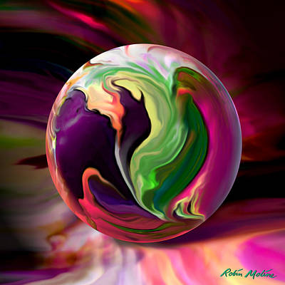 Abstract Digital Art - Jack In The Pulpit Globe by Robin Moline