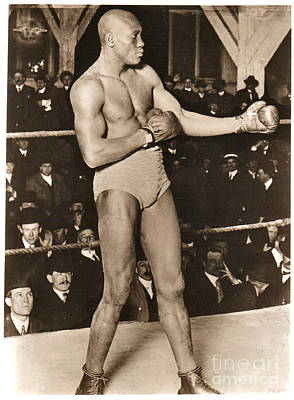 Photograph - Jack Johnson Boxing Photo by Unknown
