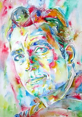 Jack Kerouac Portrait.1 Art Print by Fabrizio Cassetta