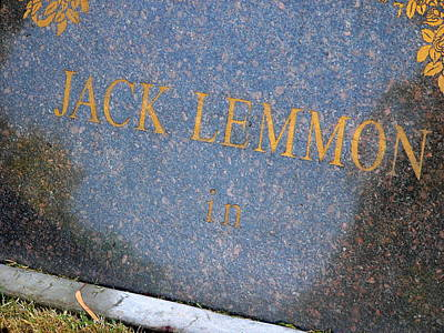 Photograph - Jack Lemmon Grave by Jeff Lowe