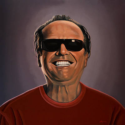 Icon Painting - Jack Nicholson 2 by Paul Meijering