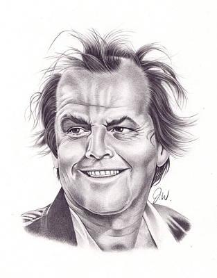 Jack Nicholson Drawing - Jack Nicholson by Jamie Warkentin