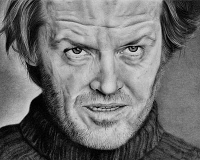 Jack Nicholson The Shining Drawing By Kirsty Turner