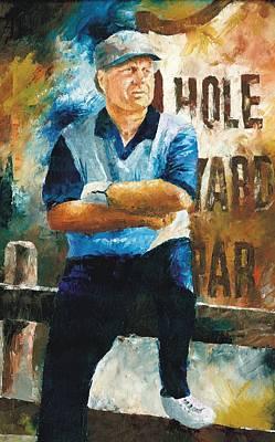 Painting - Jack Nicklaus by Christiaan Bekker