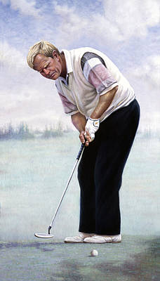 Stanford Mixed Media - Jack Nicklaus by Gregory Perillo