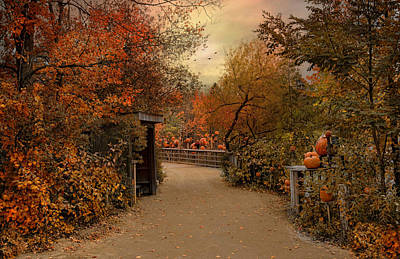 Photograph - Jack-o-lantern Lane by Robin-Lee Vieira