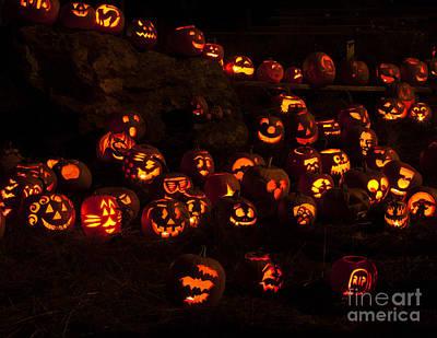 Photograph - Jack-o-lanterns by Inge Riis McDonald