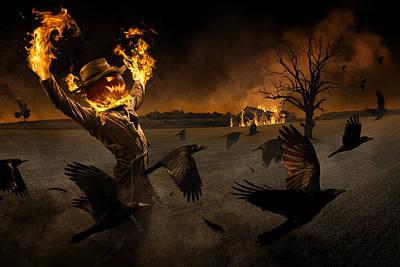 Jack-o\'-scarecrow Art Print