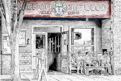 Drawing - Jack Of The Wood by John Haldane