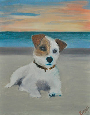 Painting - Jack On The Beach by Kristen R Kennedy