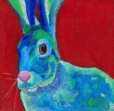 Desert Jackrabbit Painting - Jack by RubiBleu Designs