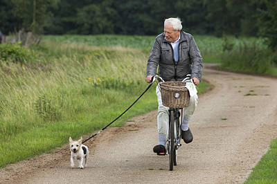 Pet Care Photograph - Jack Russell And Owner by Johan De Meester