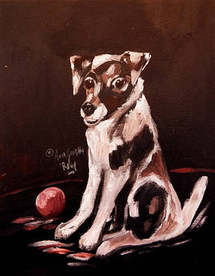 James Earl Ray Painting - Jack Russell  by Anna Sandhu Ray