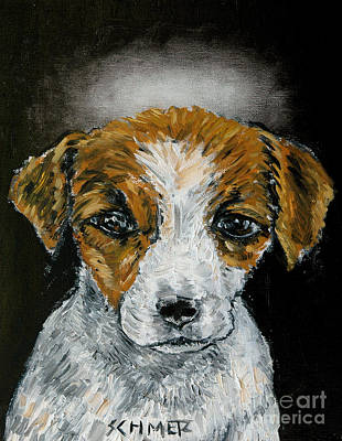 Painting - Jack Russell Terrier Angel by Jay  Schmetz
