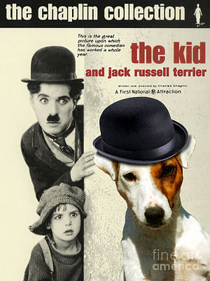 Painting - Jack Russell Terrier Art Canvas Print - The Kid Movie Poster by Sandra Sij